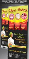 Bakery Cake Pop-Up Banner Template by Godserv