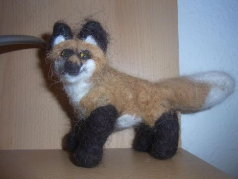 Red fox posable doll, the third one by ArcticIceWolf
