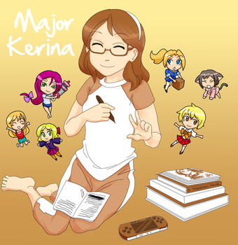 Me and My Characters by majorkerina