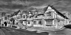 Lord Leycester Hospital BW by s-kmp