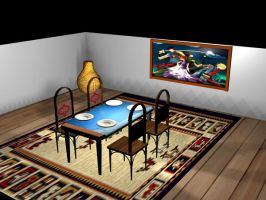 Dining room by magrozo