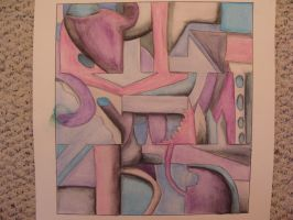 Abstract Watercolor Pencil by QueenzSerenity3