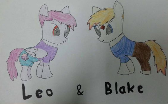 Leo  Blake as ponies by moondaggersoul