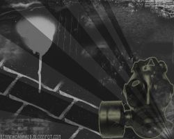 Behind A Gasmask Wallpaper by Dystopia3000