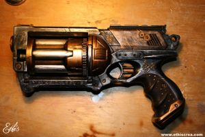 Nerf Maverick steampunk by Ethis-Crea