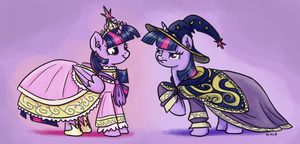 Costumed Pair by King-Kakapo