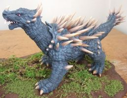 Anguirus 2001 Sculpture - Godzilla Kaiju Monster by AWMStudioProductions