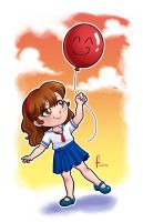 Little girl with balloon by hitomi--i