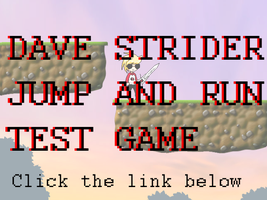 BROWSER GAME - Dave Strider - Jump n Run TEST GAME by Timeless-Knight