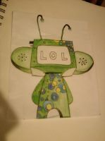 Doodle Robot by Lovely-LaceyAnn-Art
