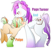 Paige and Page Turner by MutantCatRose