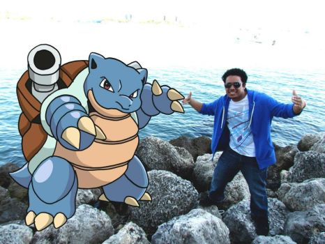 My awesome Blastoise and I by Arniecar