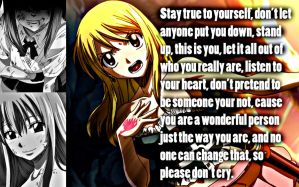 Lucy Be Yourself. by Xela-scarlet