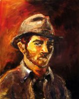 Self Portrait in Oil by yensidtlaw1969