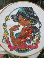 Cross stitch Jazmin pinup by unJedizombie