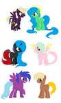 Adopted Ponies 72 by Equinoxthealicorn