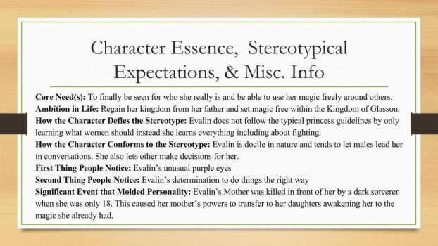 My OC Evalin's: Essence, Expectations, Misc Info by LeBelleDouleur