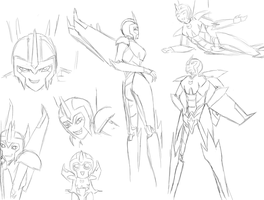 Commish - Black Frequency Sketch Dump by spiketail94