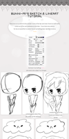 Sketch and Lineart Tutorial with a chibi: Bunni-mi by bunni-mi
