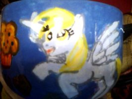 Derpy  Hooves coffee cup by mistresscarrie