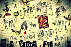 One Piece Film Z Sketches - Wallpaper by fogdark