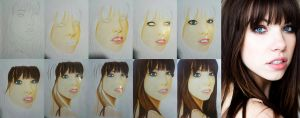 Carly Rae Jepsen - Progress of Drawing by kuromigrl