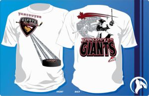Vancouver Giants T-shirt by graphicwolf