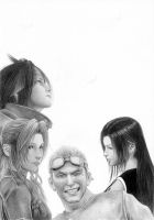 FFVII - All for one... WIP 2 by Cataclysm-X