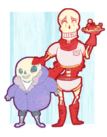 Sans and Papyrus by ThePotato-Queen