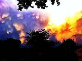 Fire In The Sky by 0--moo--0