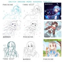 Kagerou project Swith around Meme by Black-Bamboo