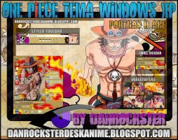 Portgas D. Ace Tema Windows XP by Danrockster