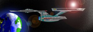 USS Enterprise NCC-1701-A Paint by Marksman104
