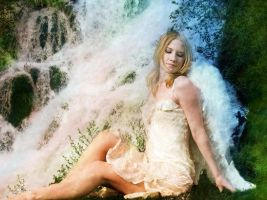 waterfall angel by Ka-Kind