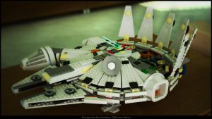Millenium Falcon with legos by Panagiotakis