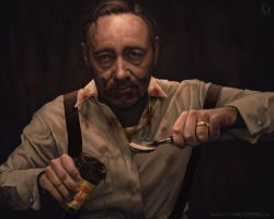 Frank Underwood - Where Did It All Go Wrong? by kevmcgivernart