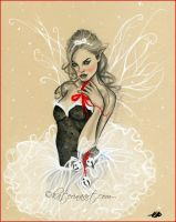 Christmas fairy by Katerina-Art