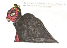 Darth Maul - My Little Pony by DarthWill3