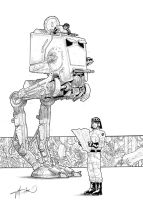 Star Wars AT-ST walker by GioTim