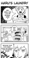 4-Koma: Haru's Laundry by Whentheskyfalls