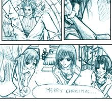 .:FFVII Comic - Christmas:. by WoodenOrchid