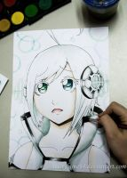Utatane Piko watercolors by Marryhime94