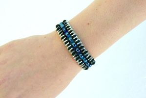 Beaded Zipper Bracelet by deathbysunset