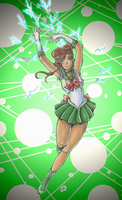 Sailor Jupiter mixed media by TriaElf9
