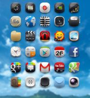 Fluffy rounded icons by shorty91