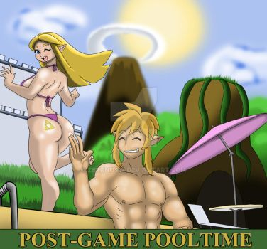 Post-Game Pooltime by Zeronos12