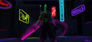 The Neon Cat by Dino-blankey