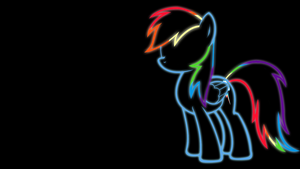 Rainbow Dash Glow Wallpaper by 30ColoredOwl