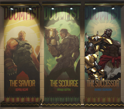 Filled Doomfist Poster by StealthHawk6