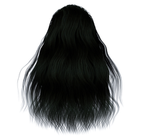 Stock Hair Images #1 long black full front by madetobeunique